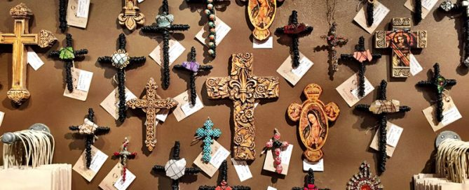 Cross Wall at Eclectic Home