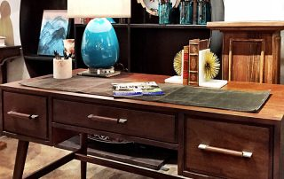 Modern Desk at Eclectic Home