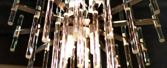 Glass Rod Chandelier